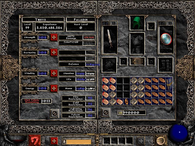 Diablo 2 LoD best hacked characters/save games for Single Player/Open Battle.net